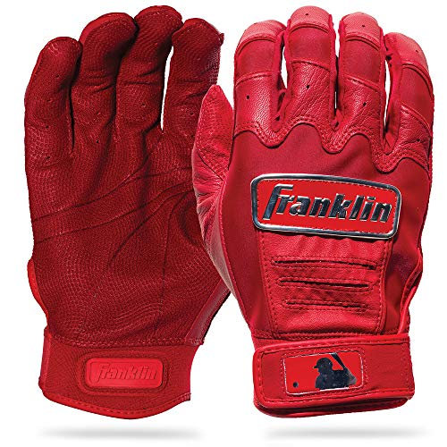 Franklin Sports CFX Pro Full Color Chrome Series Batting Gloves CFX Pro Full Color Chrome Batting Gloves, Red, Adult Large