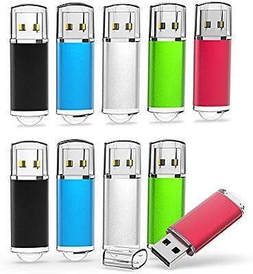 5 Mixed Colors 1GB-16GB usb 2.0 Flash Drives Memory Sticks Thumb Pen Drives