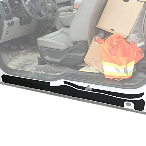 Red Hound Auto Custom Fit 2015-2019 Compatible with Ford F150 Super Cab 6pc Kit Door Sill Entry Guards Scratch Shield Protector Paint Protection ()