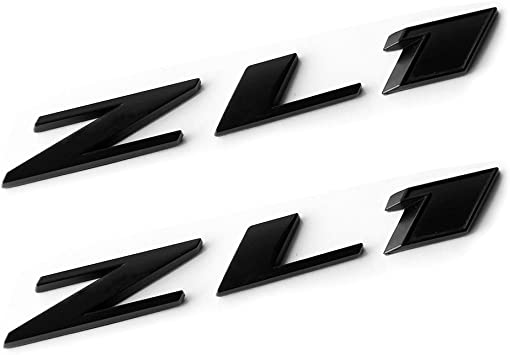 2x OEM Chrome CAMARO Letter Emblems 3D Badge GM Zl1 SS L Genuine