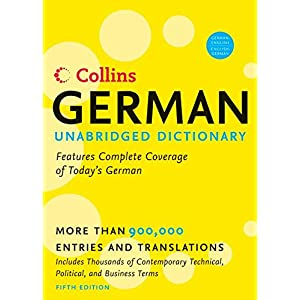 Collins German Unabridged Dictionary 5th Edition (Harpercollins Unabridged Dictionaries)