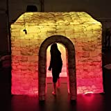 Upmarket Inflatable Photo Booth House Romantic Cabin Full Printing with 2 LED strip Light & Single Door for Wedding Party Business