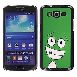 Exotic-Star ( Funny Happy Face ) Fundas Cover Cubre Hard Case Cover para Samsung Galaxy Grand 2 II / SM-G7102 / SM-G7105