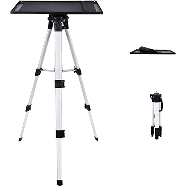 Adjustable Laptop Stand Adjustable Height 16 to 45 with Tray Vamvo Aluminum Universal Projector Tripod Stand Suitable for Home Theater or Stage Multi-Function Stand DJ Equipment Holder Mount