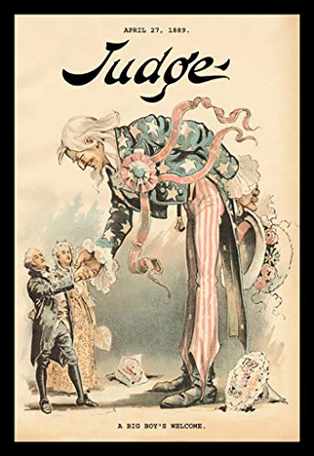 ArtParisienne A Big Boy's Welcome - Judge 1889 Uncle Sam Meets The 32x48-inch Wall Decal