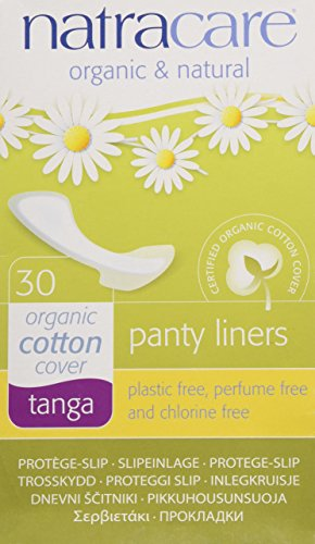Natracare Natural Panty Liners, Tanga, 30 Count Boxes (Natracare Organic Panty Liners)