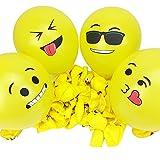 Emoji Balloons 100pcs Premium Party Supplies & Decorations by Aquatix Pro, ...