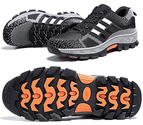 GUDUN Breathable Steel Toe boots Men's Steel Toe Shoes Hikin