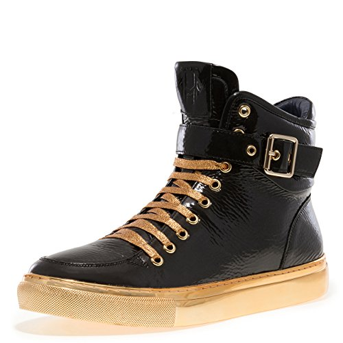 Jump Newyork Men's Sullivan High Top Black Patent 9 D US Men - Top Black Patent High