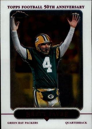 new product af6d0 ca5fd Amazon.com: 2005 Topps Chrome Football Card #139 Brett Favre ...