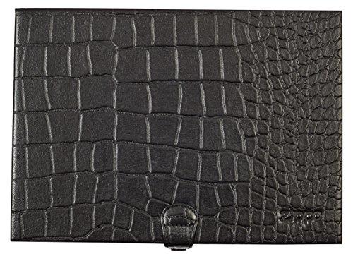 Zippo Mocca Leather 8 Lighter Box Holder Bag Case Display Cabinet