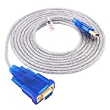 DTECH 10 ft USB to RS232 DB9 Female Serial Port Adapter Cable with FTDI Chipset Supports Windows 10 8 7 Mac Linux (Color: Blue, Tamaño: 10ft)