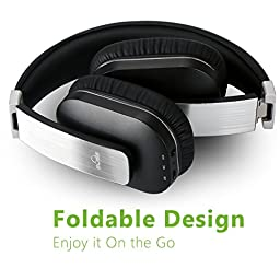 iDeaUSA Bluetooth Headphones with Mic, APT-X Wireless Over-ear Headphones for TV, 14 Hours Playback