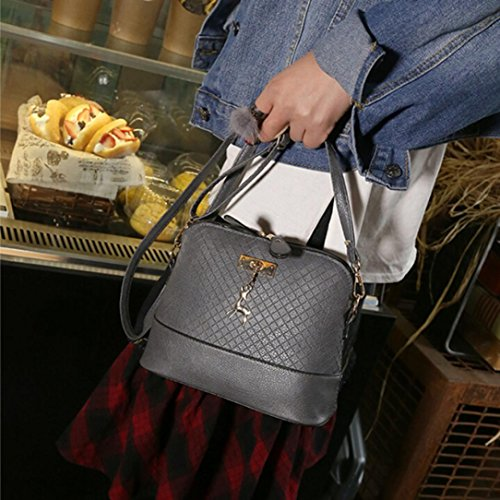 Faionny Shape Bag Shoulder Bag Fashion Messenger Backpack Gray Womens Bag Handbag Zipper Bag wPRXYq
