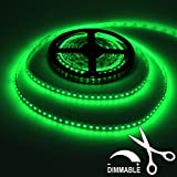 LEDJump Waterproof 5M 16 ft Reel Flexible LED Ribbon 300 LEDs Green Strip With 3M Tape, 12 Volt, 24 Watt, Linkable