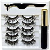 Beyond Magnetic Eyelash and Magnetic Eyeliner, Magnetic Eyeliner for Magnetic Lashes Set, Reusable Tweezers and Lashes 5 pairs