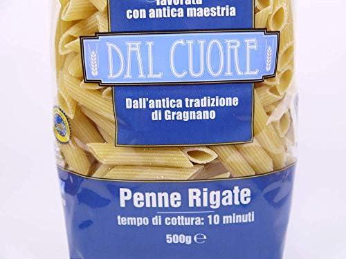 ダル クオーレ社 ショートパスタ ペンネリガーテ 500g イタリア産