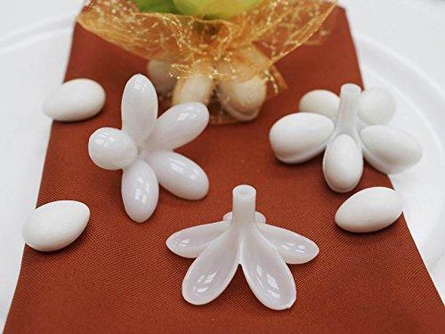 White Jordon Almond Holder - 12 dz, 144 pieces (Personalized Jordan Almonds)
