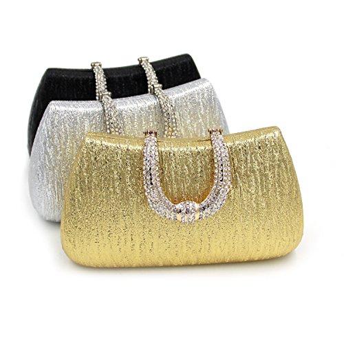 Bal Sac Argent Pochette Soirée Diamant Kigurumi Bandouliere Mariage à Sac Main Chaine à Main 4TAxBz