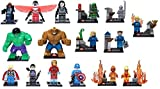 Building Block Super Hereos Minifigures 7CM Big Hulk The Thing Fastic Four Black Widow Iron Man Hulk Hawkeye Mini Figures toys