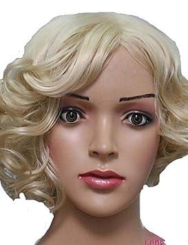 pelucas de pelo corto mujeres blancas europeas mujeres negras pelucas sintéticas pelucas de onda corta