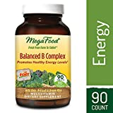 MegaFood – Balanced B Complex, Promotes Energy Production, Alertness, Cognition, Focus, and a Healthy Nervous System with B Vitamins, Folate, and Biotin, Vegan, Gluten-Free, Non-GMO, 90 Tablets