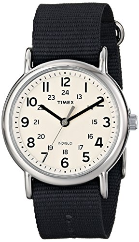 Timex Unisex T2P4679J Weekender Watch with Grey Nylon Band