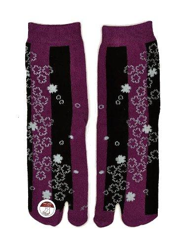 Japanese Geisha/ninja Female Tabi Socks: Unisex- (Blowing...