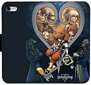 Grouden R Create and Design Folio Case,22156 kingdom hearts Leather Wallet Cell Phone Case for iPhone 6 6S 4.7 inch,GHL-1683654