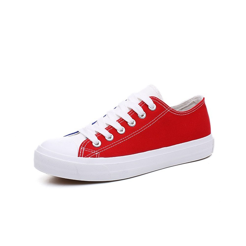 MIKA HOM Canvas Shoes,Round Toe Flat Heel Cross Strap Canvas Shoes Skate Shoes