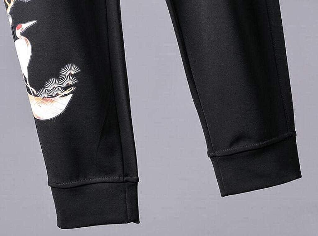 Jotebriyo Mens Printed Elastic Waist Harem Sweatpants Casual Jogging Pants