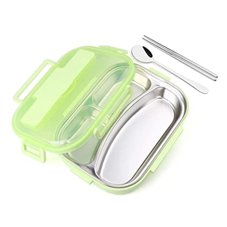 Lunch Box 3 compartimentos Bento Lunch Box Acero inoxidable ...