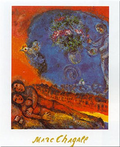 Buyartforless Couple of Lovers by Marc Chagall 20x16 Art Print Poster