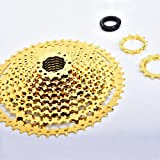 CCS Sunshine Gold MTB 11Speed Bike Cassette 11s 11-50t 22S Wide Ratio Freewheel Mountain Bicycle Freewheel