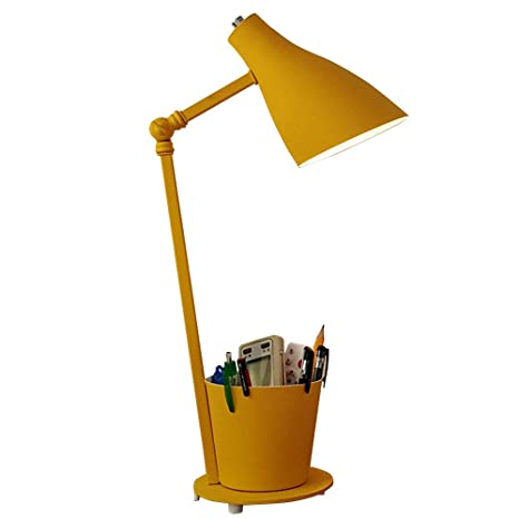Moderna creatividad lámparas de mesa E27 amarillo metal ...