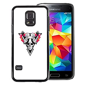 Snap-on Series Teléfono Carcasa Funda Case Caso para Samsung Galaxy S5 Mini, SM-G800 , ( Skull Triangle )
