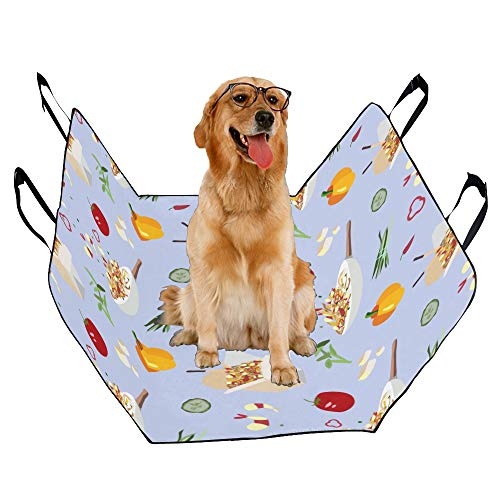 JTMOVING Fashion Oxford Pet Car Seat Wok Kitchen Creative Hand-Painted Waterproof Nonslip Canine Pet Dog Bed Hammock Convertible for Cars Trucks ()