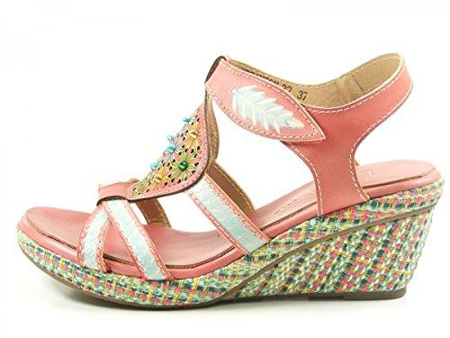 Laura Vita SD381-32 Besancon 32 Sandalias fashion de cuero mujer Rosa
