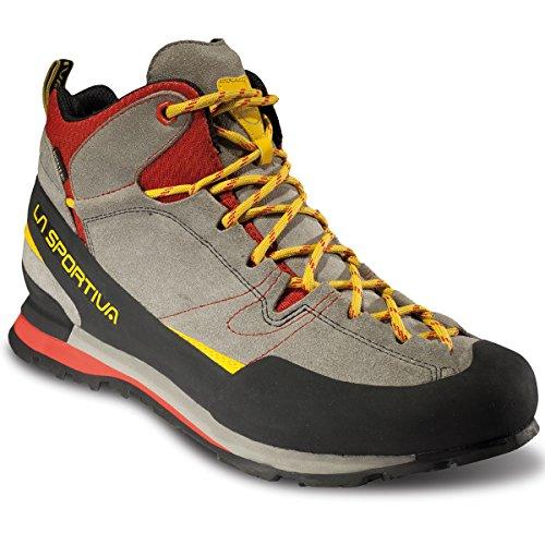 La Sportiva Boulder X Mid GTX Gore-Tex Scarpe Uomo, Grey/Red (43.5)