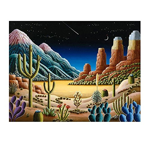 - THF Dreamy desert night scene 5D Diamond Painting Embroidery DIY Paint-By-Number Kit Home Wall Decor 40X30CM(15.7x11.8inch)