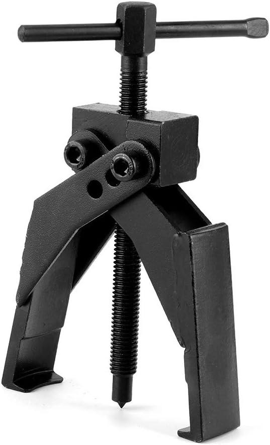 Qiilu Estrattore cuscinetto a 2 artigli estrattore separato a 2 artigli Dispositivo di sollevamento separato Rafforzare il cuscinetto Rama con asta a vite per la manutenzione del meccanico