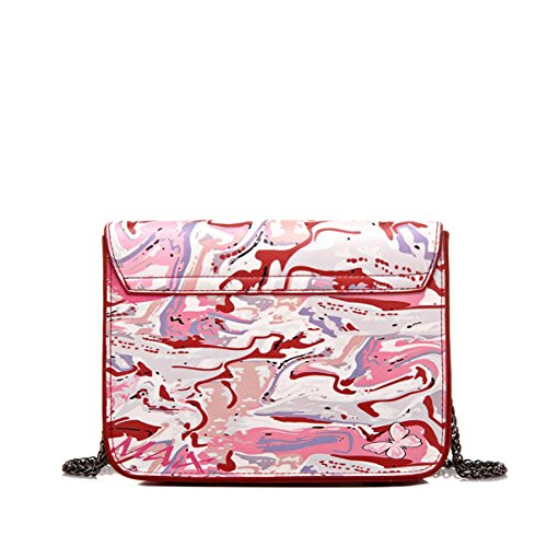Strap Graffiti All Closure Leather over Micom Chain Pig Printing Deer Crossbody Nose Pu Bags with Purse Eq1waxCXx