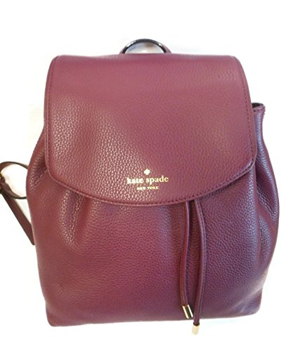 Kate Spade Mulberry Street Small Breezy BackPack Shoulder Bag (Mulled Wine 582) by Kate Spade New York