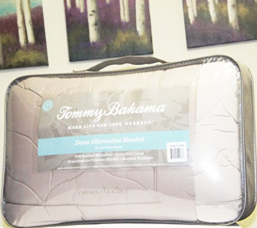 """Tommy Bahama Down Alternative Blanket Sand Stone Color QUEEN (98"""" X 96"""")"""