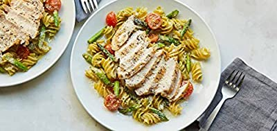 Chicken and Quinoa Pasta with Pesto and Asparagus by Chef'd partner The Bikini Chef