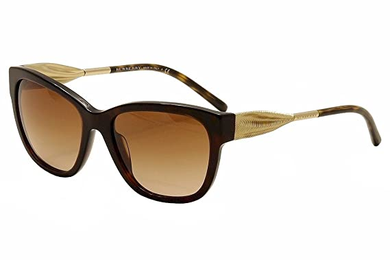 837f16cd26 Amazon.com  Burberry BE4203 Sunglasses 300213-57 - Dark Havana Frame ...