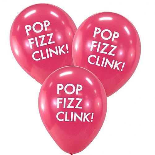 Dress My Cupcake Hot Pink Pop Fizz Clink Balloons]()