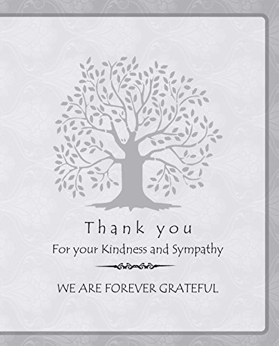 20 Celebration of life Funeral thank you cards with envelopes memorial Sympathy acknowledgment thank you Cards (white) - Celebration Envelopes