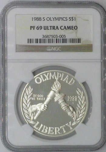 1988 S Modern Commemorative $1 PF69 NGC $1 Silver Olympics Commemorative NGC PF69 Ultra Cameo