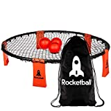 Rocketball Game Set by RocketSports - 3 Ball Set, Drawstring Bag, And Ball Pump